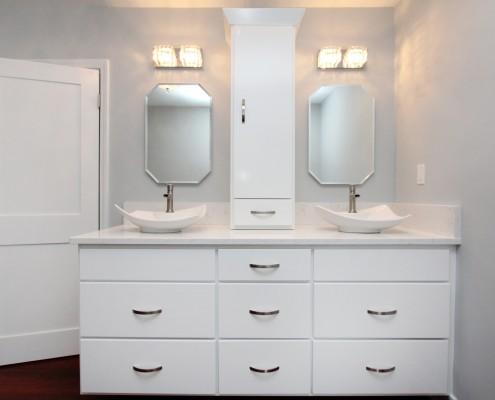 white cabinets modern