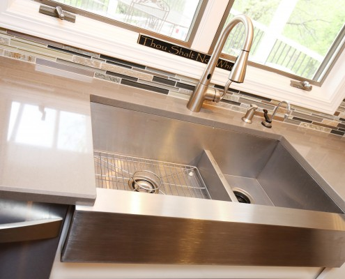 stainless apron sink