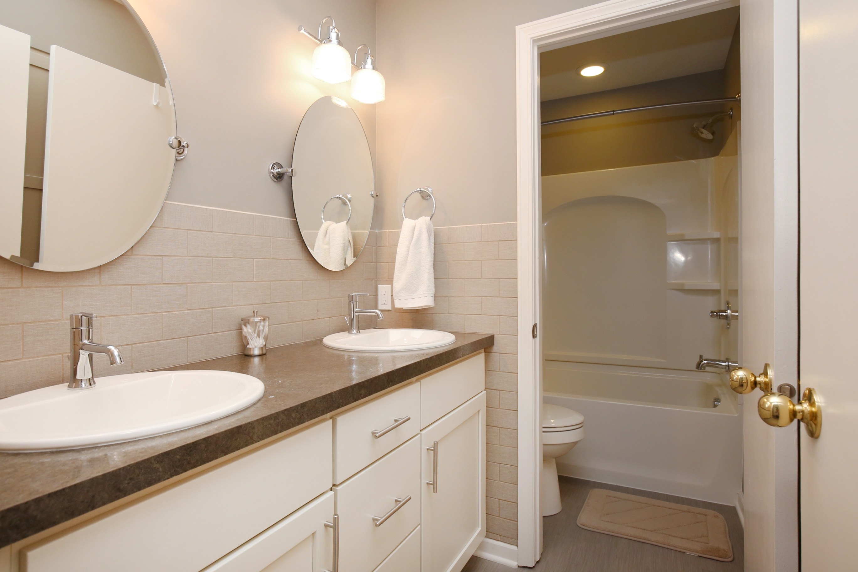 ... cabinets to house all of their towels toiletries and laundry h&ers. You can see that they were designed to match the bathroom vanity as well. & Got Stuff? Try floor to ceiling cabinets!