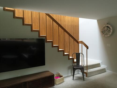 before staircase renovation