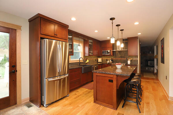 Mission style kitchen remodel