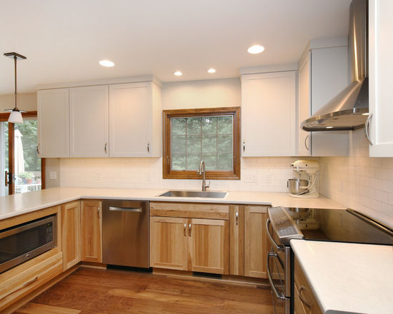 Thompson-remodeling-Natural Hickory-White Kitchen Remodel1