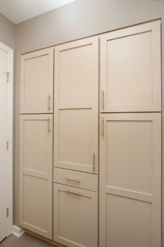 Floor To Ceiling Storage In Bathroom